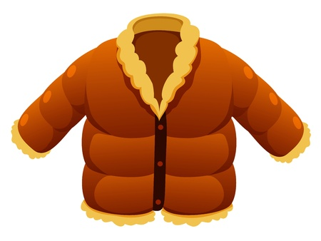 fur coat: Jacket  Illustration