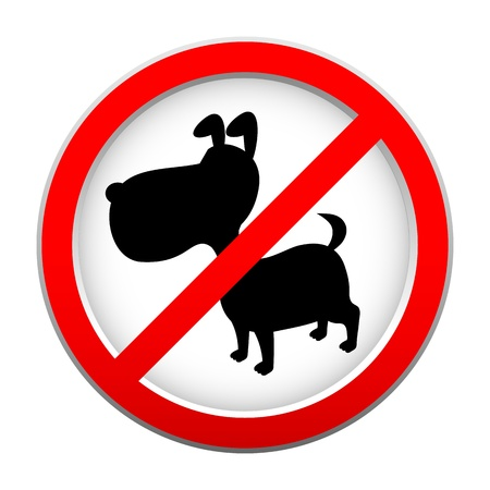 No dog sign Stock Vector - 14812698