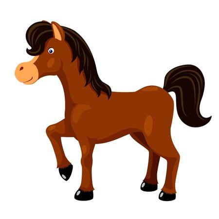 saddle: Cute horse vector