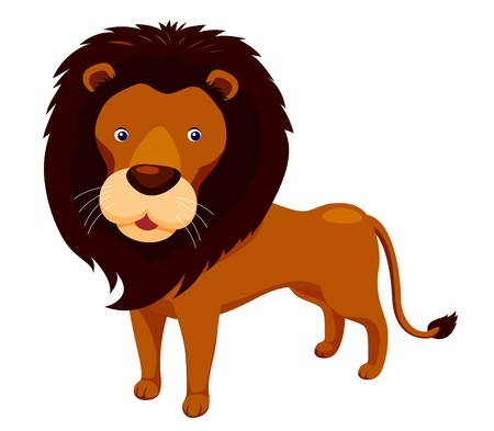 panthera: Cartoon leone vettore
