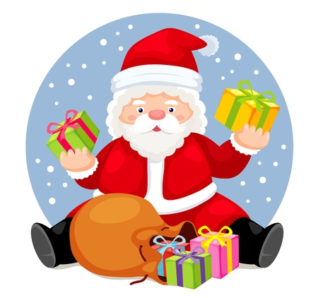 Santa Claus  Bag with gifts Illustration