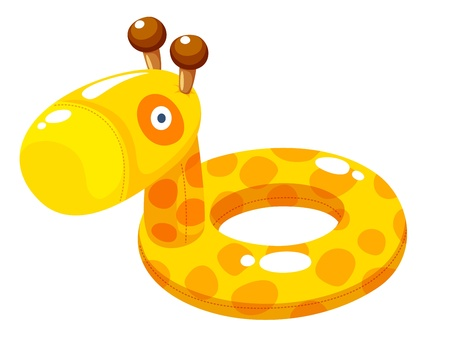 rubber ring: Swim ring Vector Illustration