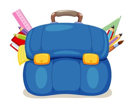 Retour à l'école, illustration sac d'école Vecteurs