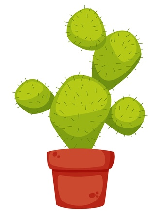 trees with thorns: Cactus cartoon illustration Illustration