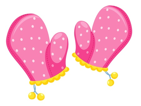 mitten: Kitchen gloves illustration Illustration