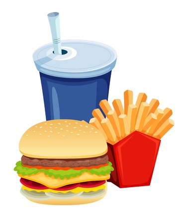 prepared potato: Fast food vector Illustration