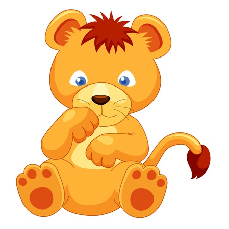 Cute Lion cub vector Vector
