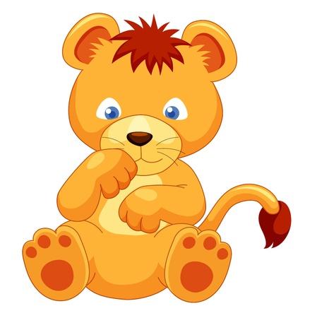 Cute Lion cub vector Vector