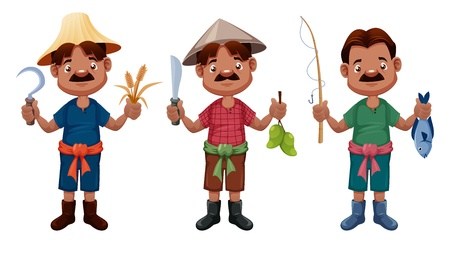 Cartoon farmer  Stock Vector - 14974573