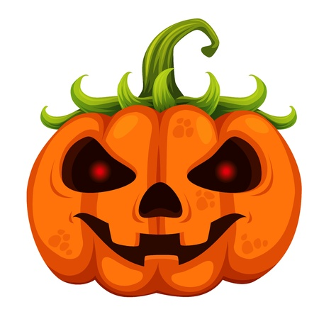 Halloween pumpkin on white background Vector