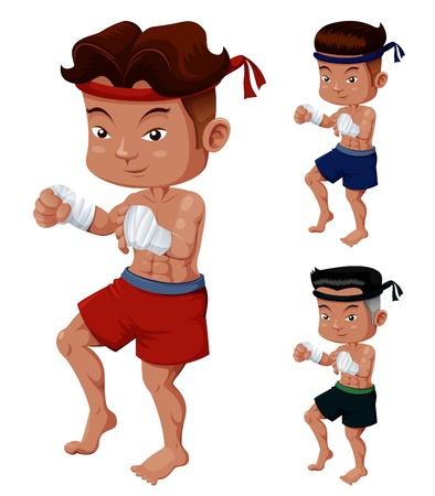 Illustration of Thai Boxing Stock Vector - 14990842