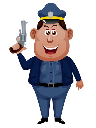 Policeman cartoon Vector
