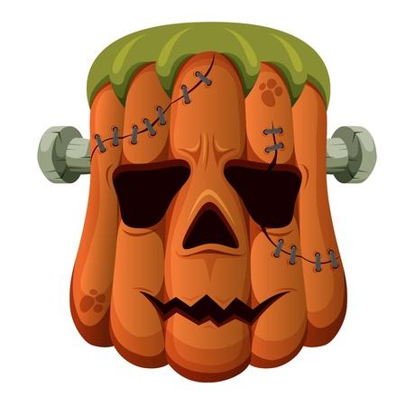 dark eyes: Halloween pumpkin on white background