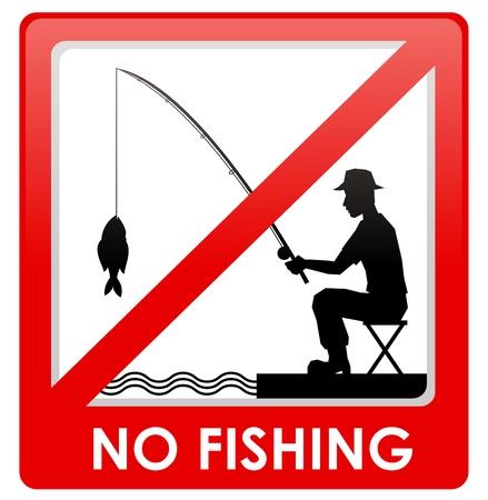No fishing sign Stock Vector - 15063172