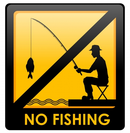 No fishing Stock Vector - 15063156