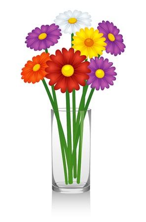 ramo de flores: Flores en el florero