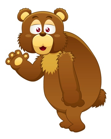 illustration brown bear Vector