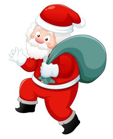 bolsa de regalo: Pap� Noel con bolsa de regalo