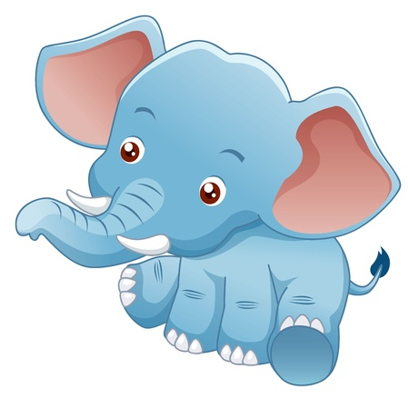 elefantes: ilustración pequeño elefante Vectores