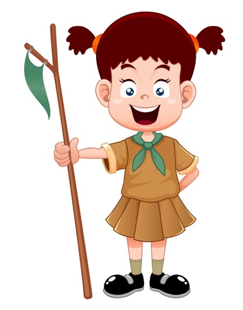 girl scout: Girl scout Illustration