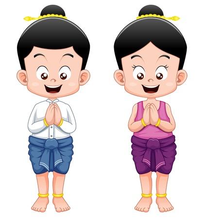 manos aplaudiendo: Niños tailandeses