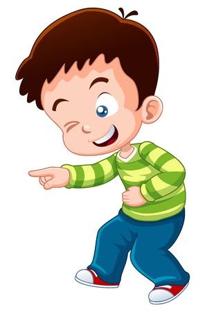 illustration of boy happy