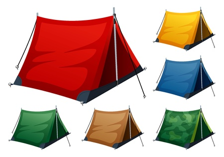 Camping tent Stock Vector - 15304964