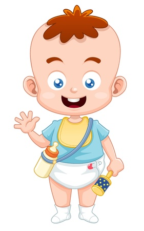 Illustration of Cute baby