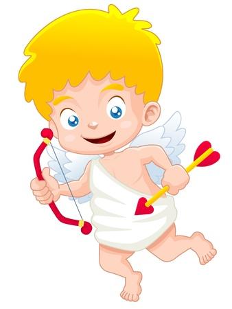 illustratie van schattige Cupido