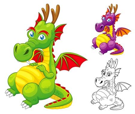 hi: illustration of Dragon