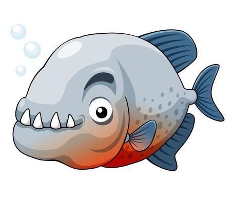 rio amazonas: ilustraci�n del vector pez pira�a