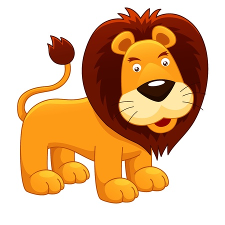 furry animals:  illustration of Lion