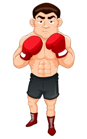 quickness: illustration of Cartoon  boxer