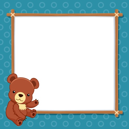illustration of Bear with white blank Vector