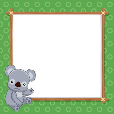 illustration of Koala with white blank Vector