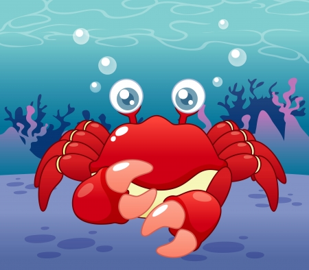illustration of Cartoon crab Vector