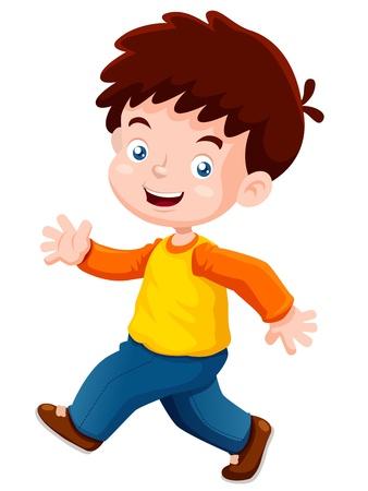 enfants qui rient: illustration de gar�on heureux