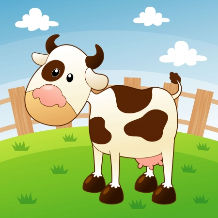 cow bells: illustration of cow