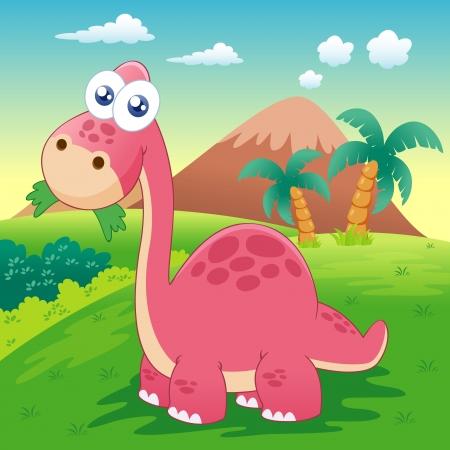 dinosaur cartoon: ilustraci�n del dinosaurio Vectores