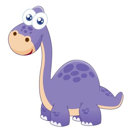 dinosaurio caricatura: ilustración del dinosaurio Vectores