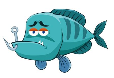 poisson aquarium: illustration de poisson avec Hame�on Illustration