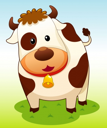 cows grazing: illustration of cow vector