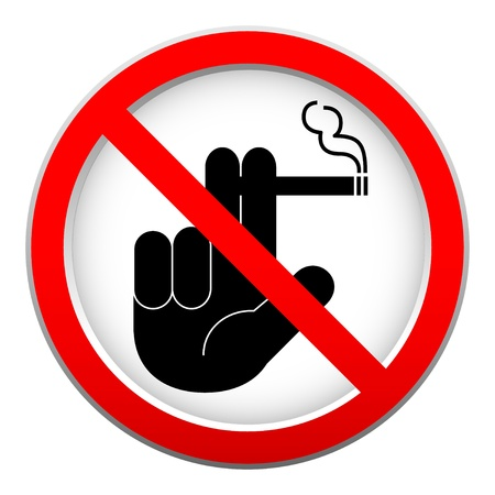 interdiction: no smoking sign on white background
