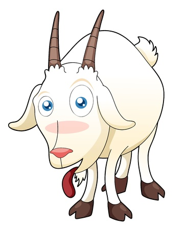 baby goat: illustration of funny goat
