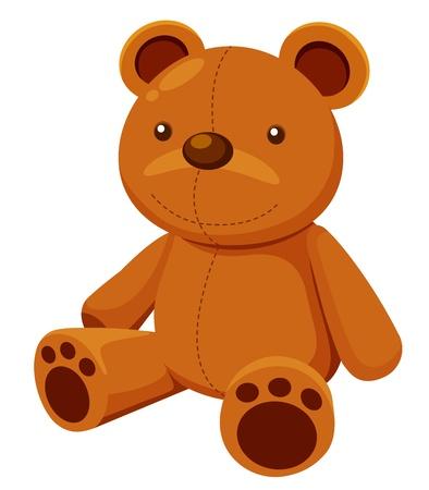 oso blanco: ilustración del oso de peluche Vectores