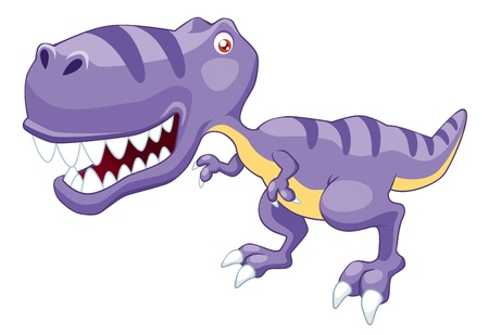 illustration of cartoon dinosaur Vector