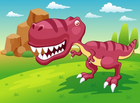 illustration of cartoon dinosaur vector Vector