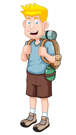 illustration of Cartoon Tourist Vector version  Vector