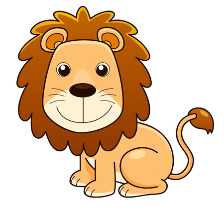 illustration of Lion cartoon Vector Vector