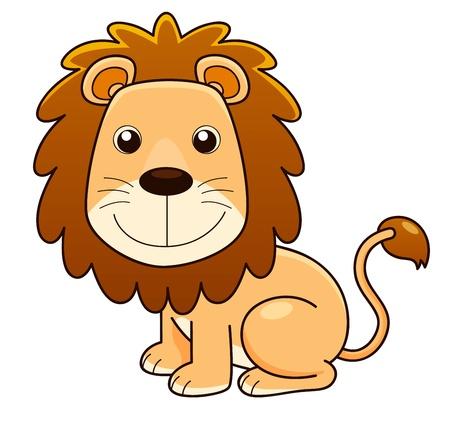 rey: ilustración del vector de la historieta del león Vectores
